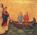 Povolání Petra a Ondřeje: Duccio di Buoninsegna, 1308-11 (http://www.wga.hu)