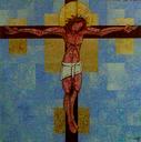 Ukřižování, současná mexická ikona, http://www.churchforum.org