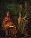 Nikodém na návštěvě u Krista (John   La Farge 1880. Smithsonian American Art Museum, http://nmaa-ryder.si.edu)